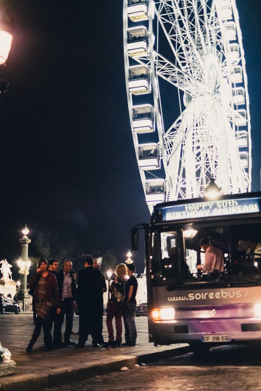 The Party Bus makes its way around Paris!