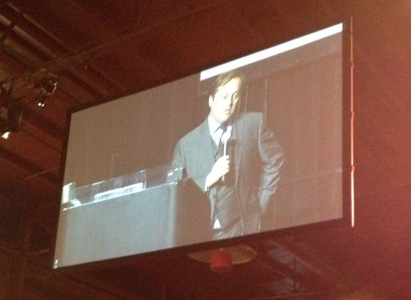 Jason making his closing remarks to the audience of over 5,000 attendees