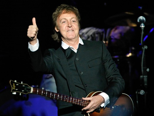 LAS VEGAS - APRIL 19: Sir Paul McCartney performs at The Joint inside the Hard Rock Hotel & Casino April 19, 2009 in Las Vegas, Nevada. (Photo by Ethan Miller/Getty Images)