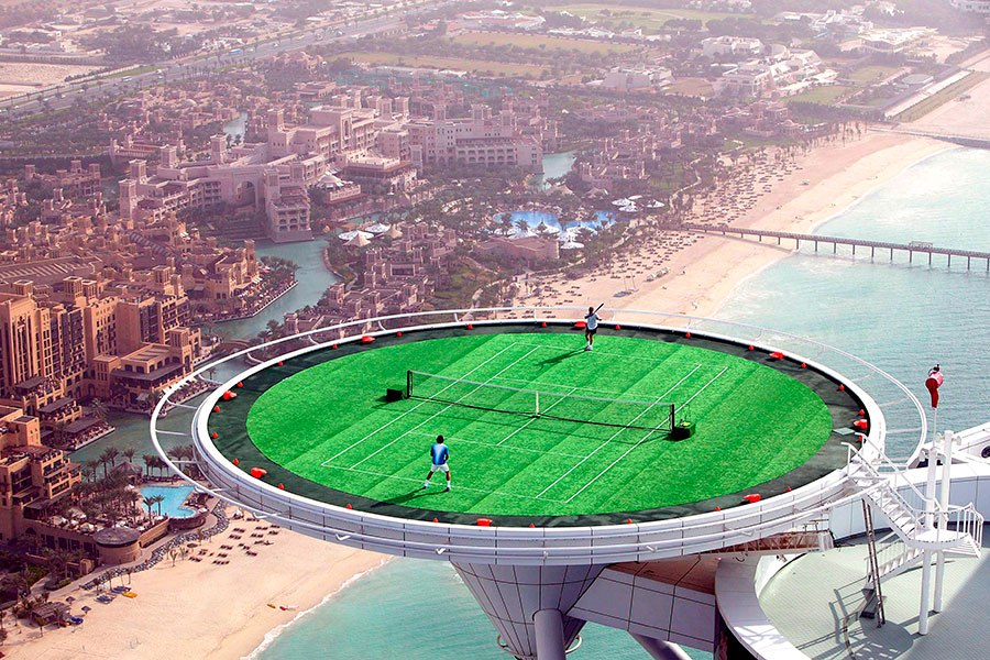 (The World's) Top 5 Most Amazing Tennis Courts!