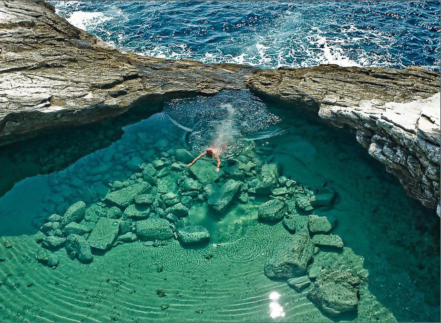 thassos giola lagoon